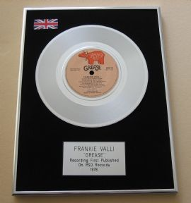 GREASE - FRANKIE VALLI - GREASE PLATINUM Single Presentation Disc